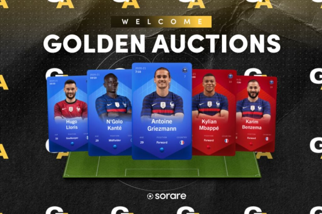 sorare-and-goldin-auction:-nfts-of-french-and-belgian-footballers